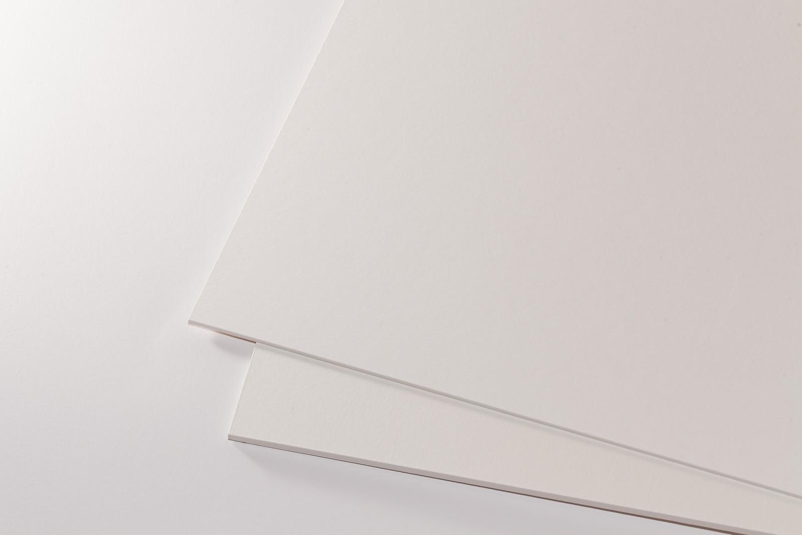 Galeriekarton weiß/natur