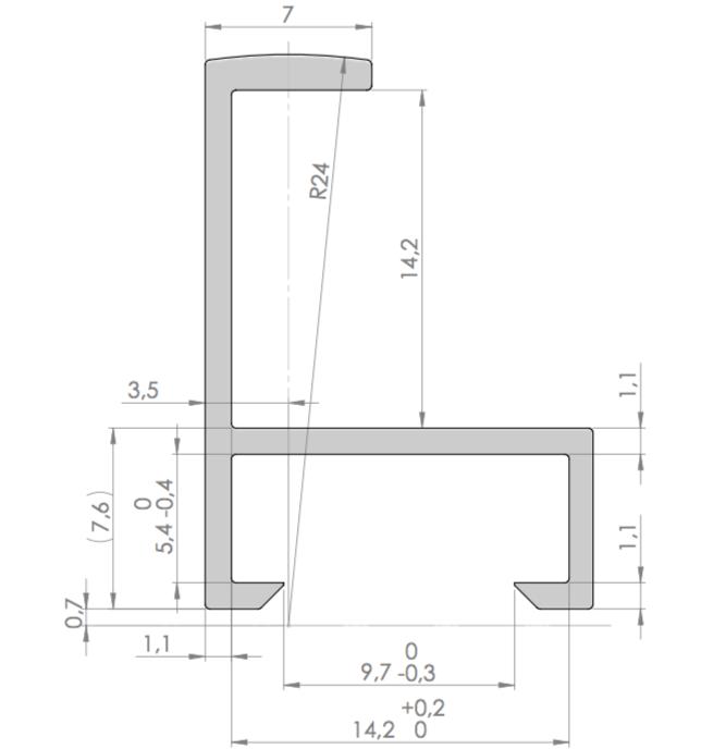 FCO 221 Aluminium-Wechselrahmen-Profil