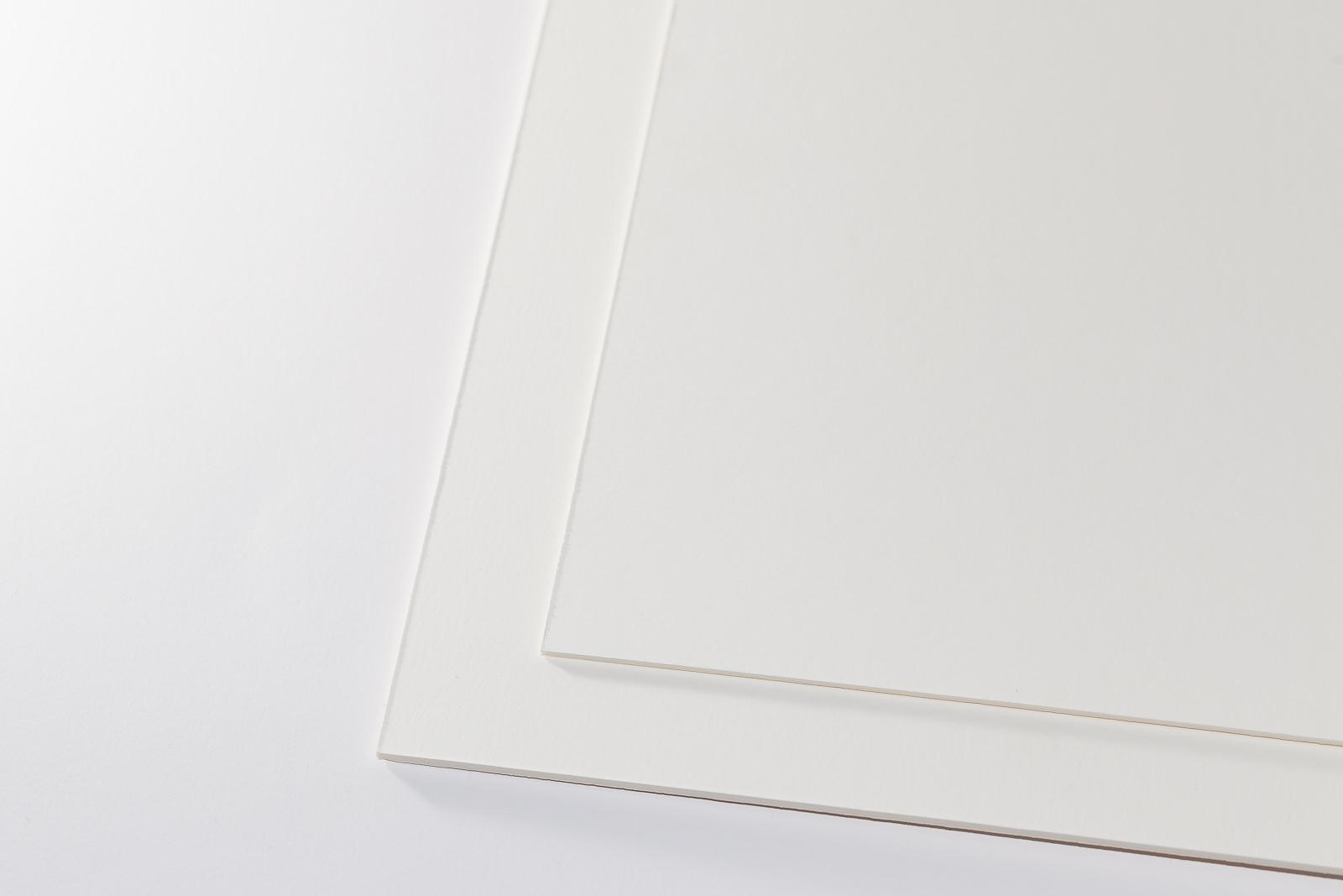 Museumskarton Zellstoff chamois/weiß