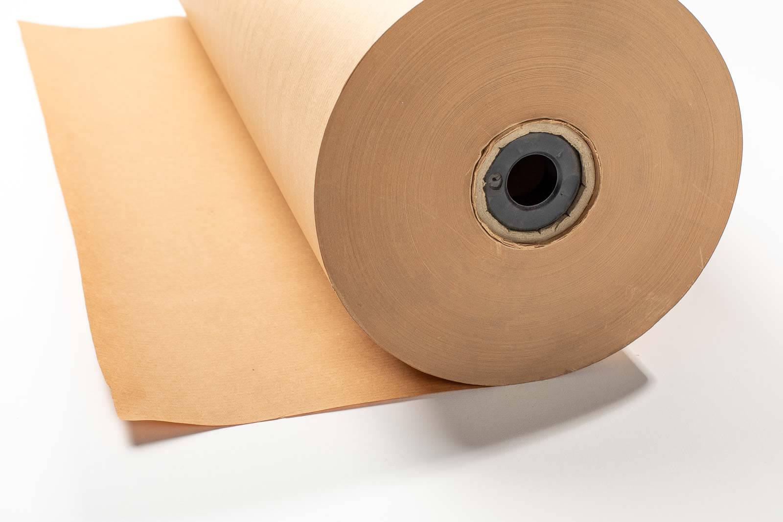 Eine seitliche Aufnahme der Secare-Rolle, braunes Packpapier